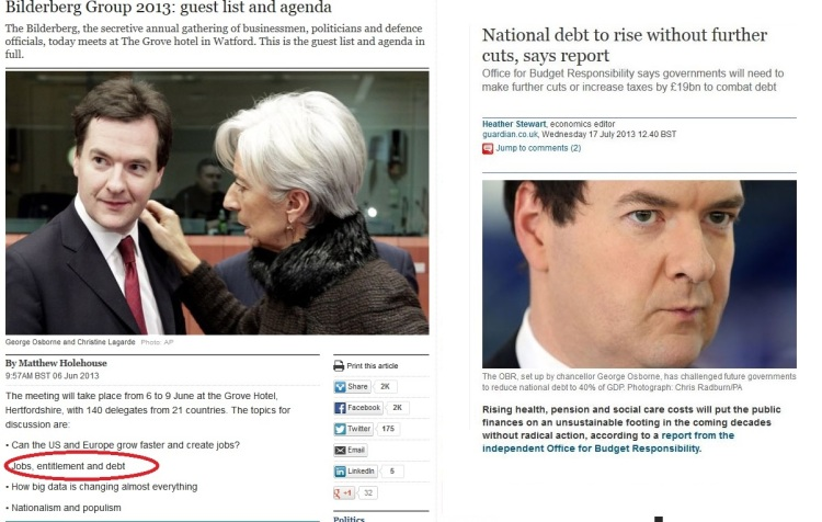 Telegraph Bilderberg agenda Osborne and debt